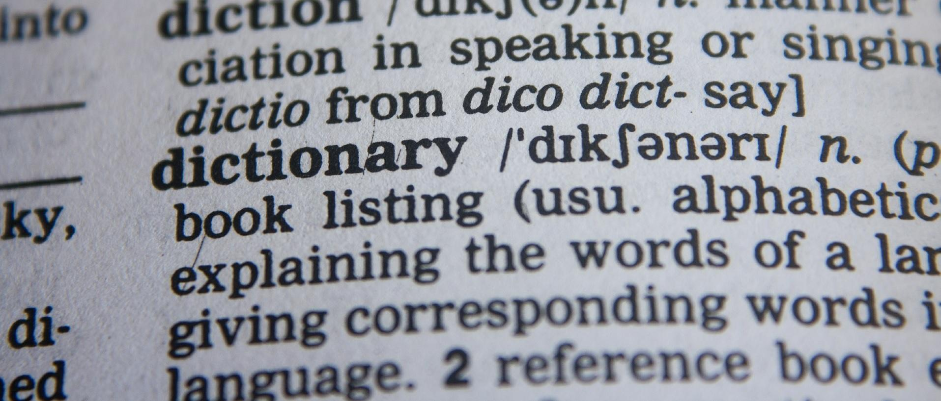 modern language learning aid - dictionary