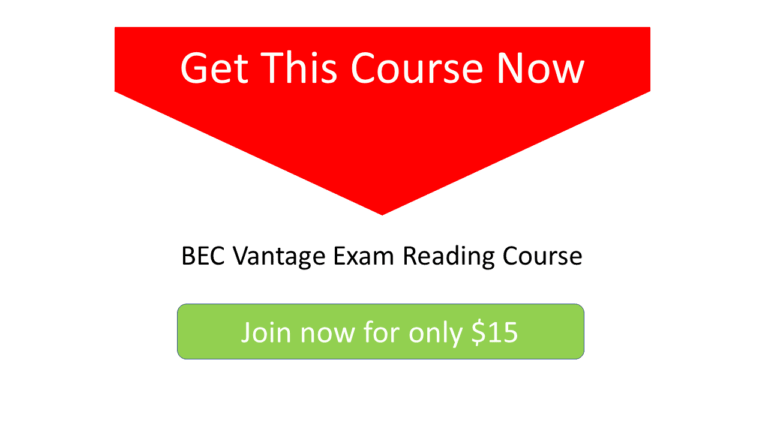 bec vantage exam reading course